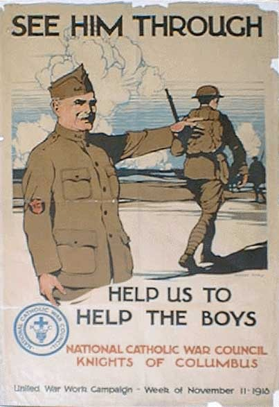World War I Inspirational Poster of Soldier