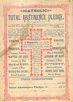 Catholic Total Abstinence Pledge