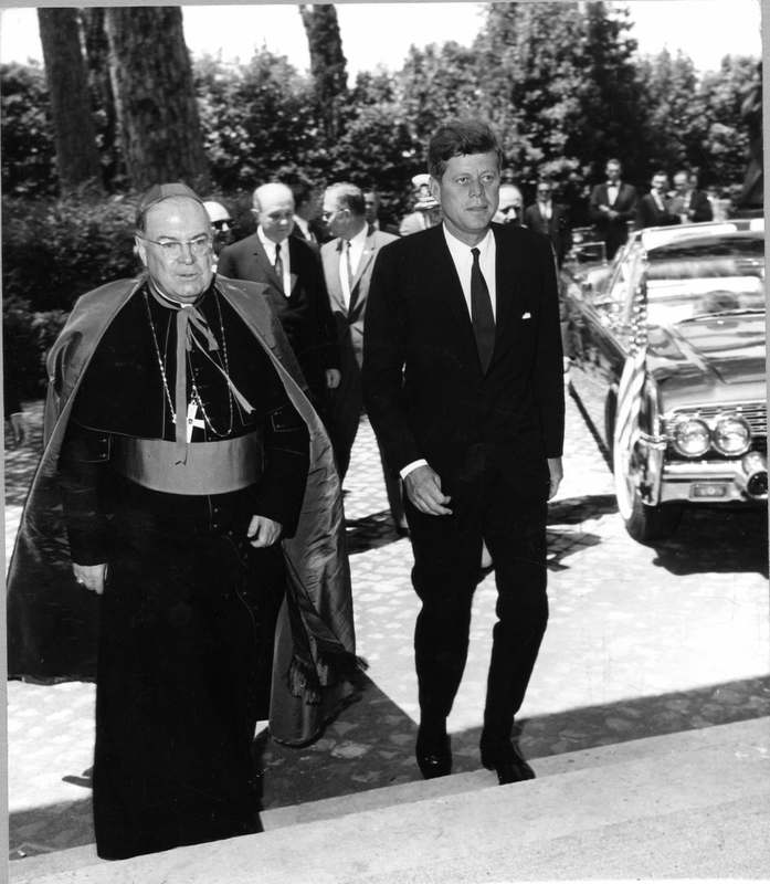 JFK at North American College in Rome, July 1963