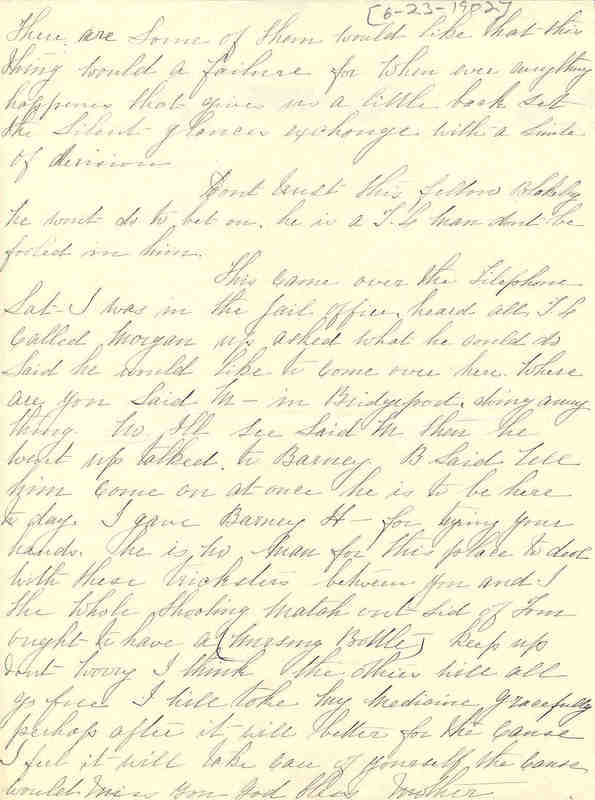 Mother Jones to John Mitchell, 23 June 1902, Page 2