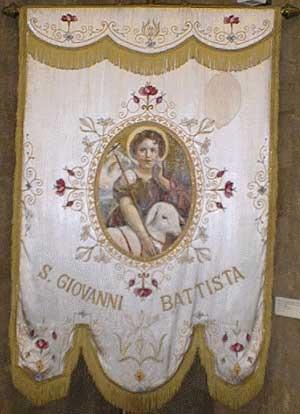 Italian Liturgical Banner used at Holy Rosary Catholic Church, Washington, DC, ca. 1900