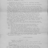 Minutes of the Irish History Club of the Catholic University