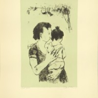 Untitled (Print Depicting Woman Holding Child)
