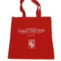Tote bag produced by the Office of Public Affairs