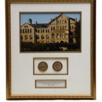 Duplicate copy of framed photograph of McMahon Hall