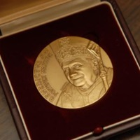 Commemorative coin which Pope Benedict XVI presented to Father O'Connell