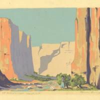 Canyon de Chelley - Near Gallup - N. M.