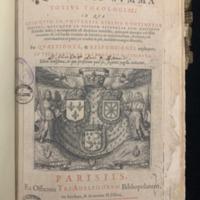 Summa Theologiae (1607), Title Page.