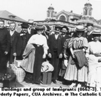 Ellis Island Group of Immigrants