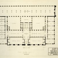 1st Floor Plan of Mullen Library