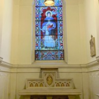Stained Glass Window of St. Thomas Aquinas