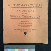 St. Thomas Aquinas: An Outline of the Summa Theologica (1950), Cover.