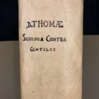 Summa Contra Gentiles (1552), Spine.