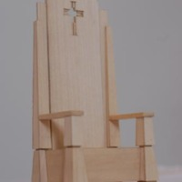 Architectural model of papal chair created by Farazad, Fullam, Pettit, and Steen