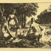 Nymphs Bathing