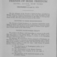 Declaration of Principles adopted by the National Convention of the Friends of Irish Freedom