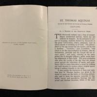 St. Thomas Aquinas, Frist Page.