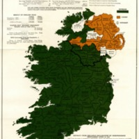 Map of the Irish Republic Showing Result of General Election