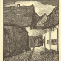 Untitled (Stone Street and Gate)