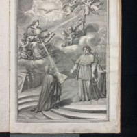 Selected Theological and Doctrinal Lessons of St. Thomas Aquinas under the auspices of Cardinal Albani, Engraving.