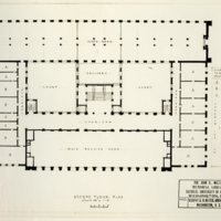 2nd Floor Plan of Mullen Library