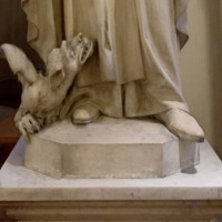 Statue of St. Thomas Aquinas in Caldwell Chapel, Detail.